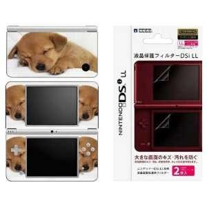 Nintendo DSi XL Decal Skin   Animal Sleeping Puppy