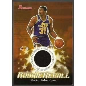 Rookie Recalls Game Used Jersey Card #RREKM   Karl Malone   UTAH JAZZ