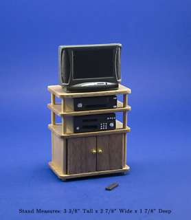Dollhouse Miniature Modern Filled TV Stand #WCBS25