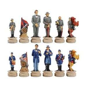 Civil War Chess Set   Pieces   King 3.25 inches tall