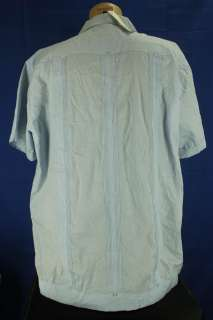 Monte Carlo Size 2XL Light Blue Cuban Wedding Button Up Shirt