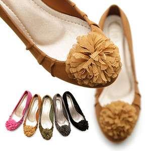 Womens Shoes Ballet Low Heels Flats Loafers Cute Pluffy Accents