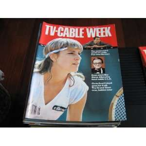 TV Cable Week Magazine (Chris Evert Lloyd , Steve Allen