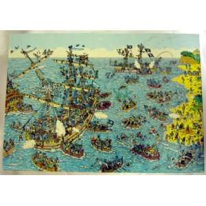 Wheres Waldo Being A Pirate 100 Piece Jigsaw Puzzle Toys