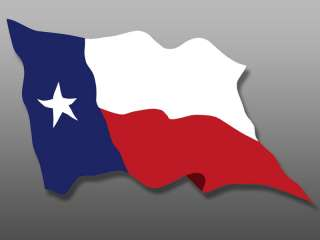 Waving Texas Flag Sticker  decal window bumper state tx