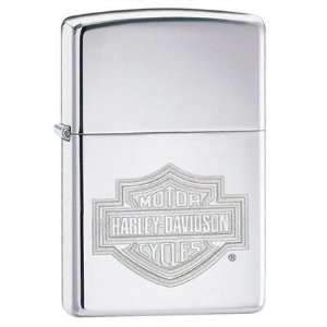 Davidson Bar & Shield High Polish Chrome Lighter
