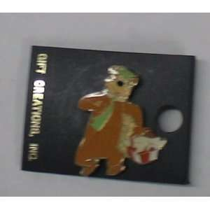 Vintage Enamel Keychain  Hanna Barbera Yogi Bear