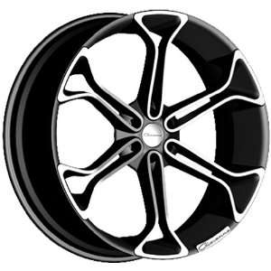 Giovanna King6 Matte Black Wheel with Machined Lip (24x10