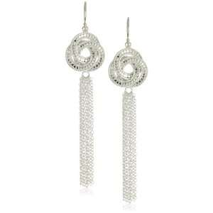 Anna Beck Designs Lombok Sterling Silver Knot Tassel Earrings