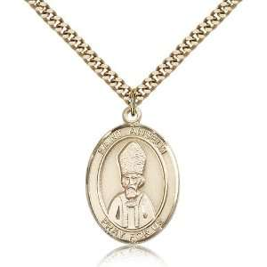 Gold Filled St. Saint Anselm of Canterbury Medal Pendant 1