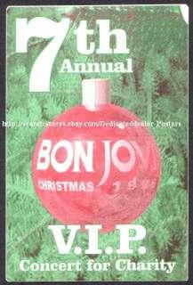 BON JOVI backstage pass Tour Satin Cloth VIP 96