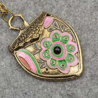 Vintage Retro Copper Enamel Flower High Quality Fashion Pendant