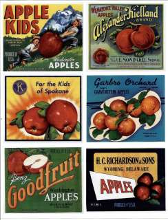 Vintage Label Stickers Repro Food Advertising