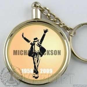 MICHAEL JACKSON COIN KEY RING CHAIN CHARM