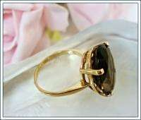 Vintage Jewelry Fine 14 kt Gold Ring Topaz Gemstone