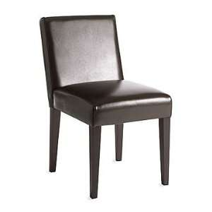 west elm Garvey Leather Side Chair, Chocolate Home