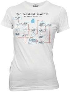 The Big Bang Theory Friendship Algorithm Juniors White T Shirt