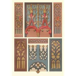 Medieval Window and Door Design 20x30 poster: Home & Kitchen