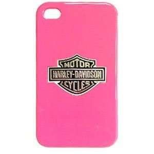 Apple iPhone 4 / 4S Harley Davidson Logo on Pink