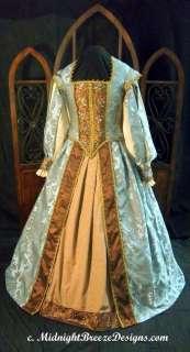 Vestido isabelino de vestir corte renacimiento, POR ENCARGO!