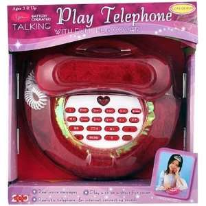Talking Play Telephone   Pink Toys & Games