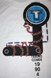 vtg TEKNO COMIX 90s deadstock comic book t shirt L NEIL GAIMAN