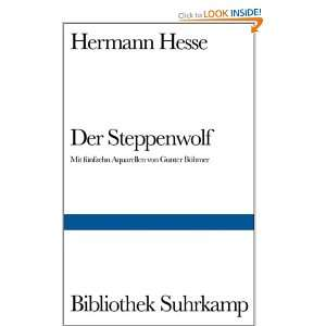 Der Steppenwolf. (9783518018699): Hermann Hesse, Gunter Böhmer: Books