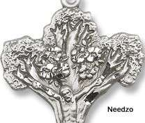 Sterling Silver Bishops Pectoral Cross Crucifix Tree Of Life Design