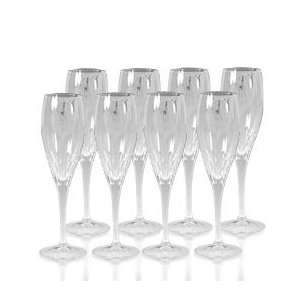 Mikasa Capella Crystal Champagne Flute Glasses, Set of 8