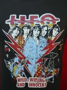 UFO English Heavy Metal Hard Rock Band T shirt Large