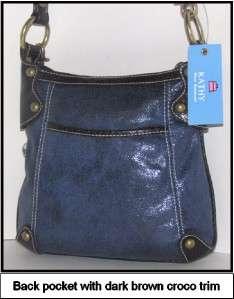 Kathy Van Zeeland Denim Blue High Gloss X Body & Charms Nwt