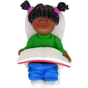 African American Girl Potty Training Ornament: Everything