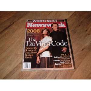Tom Hanks and Audrey Tautou on cover The DaVinci Code. Newsweek: Books