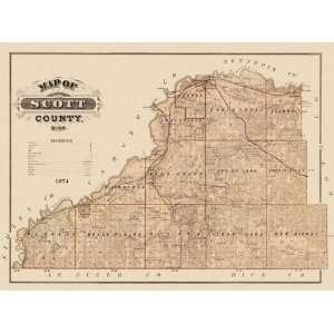 SCOTT COUNTY MINNESOTA (MN) LANDOWNER MAP 1874