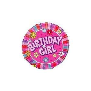 18 Birthday Girl Daisies Mylar Foil Balloon   Mylar Balloon