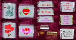 Valentines Day candy Wrappers Personalized Party Favors