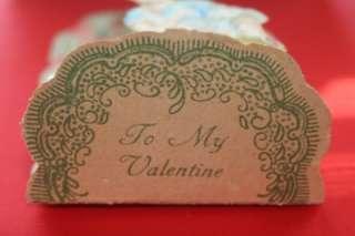 VTG Old 3D Pop Up Fold Out Valentine Day Card Germany VERY NICE