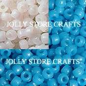 100 UV BLUE Color changing Pony Beads kandy kandi 9x6mm