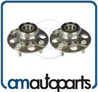 Acura EL Honda CRX Civic Del Sol Wagovan Rear Wheel Bearing & Hub Pair