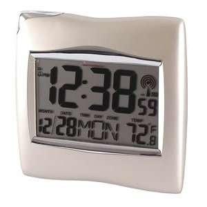 Jasco Atomic Clock w/ Thermometer 51215: Home & Kitchen