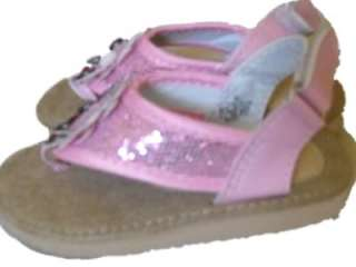 Toddler Girls Pink Metallic Thong Sandals Back strap New Ellemenno 5