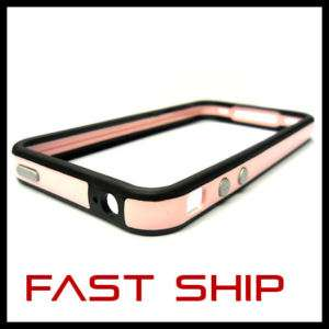 Apple iPhone 4 G New Ultra Slim Pink Dual Bumper Case