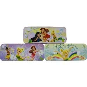 Disney Fairies Metal Tin Pencil Box Case 8   Variety Pack