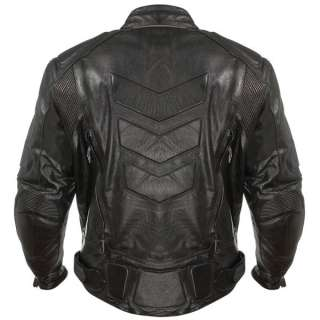 Xelement Advanced Armored Padded Mens Black Motorcycle Jacket L