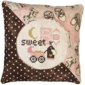 Sweet Baby Girl Pillow Kit   Cross Stitch Kit: Arts, Crafts & Sewing