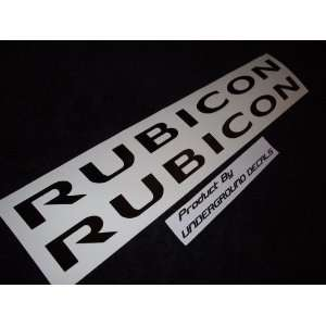 RUBICON Jeep Decals Hood Vinyl Stickers GLOSS BLACK