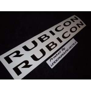 RUBICON Jeep Decals Hood Vinyl Stickers GLOSS BLACK