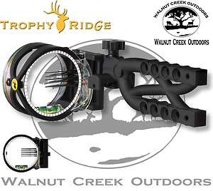 Trophy Ridge Cypher 5 .019 5 Pin Archery Bow Sight BLACK AS605 RH/LH