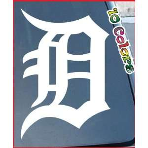 MLB Detroit Tigers Logo Car Window Stickers 8 Tall (Color