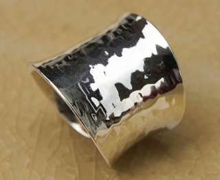 HAMMERED RING .925STERLING SILVER Size US8/P,Adj
